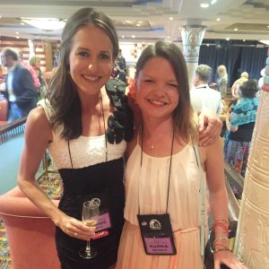 Cassie Bjork, aka Dietitian Cassie, and I at the Low Carb Cruise 2015
