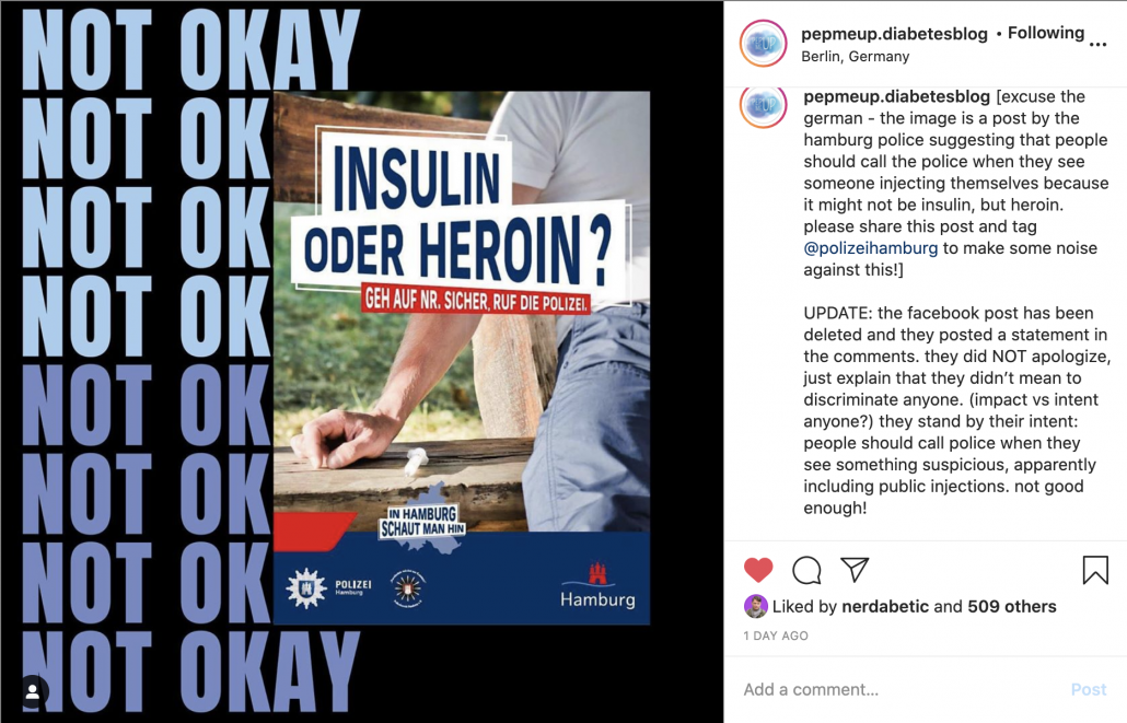 Diabetes & Discrimination by the Hamburg Police